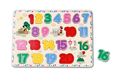 Puzzle chiffres en bois Mickey Mouse