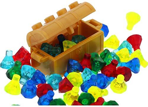 LEGO Piraten Schatztruhe in Gold mit 50 Diamanten Kristalle