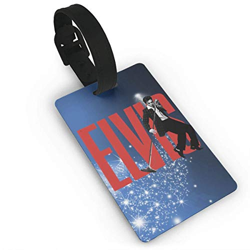 CHSUNHEY Elvis-Presley Luggage Tags Travel Accessories Suitcase Tags Identifiers Business ID Sturdy Tags Baggage Tags,Travel Accessories Suitcase Tags Apply3.7X2.2in