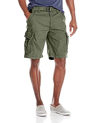 Unionbay Men's Survivor Belted Cargo Short, Military, 36 by Unionbay Young Men's