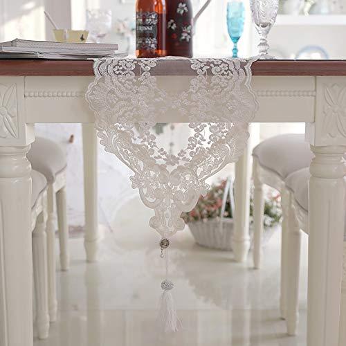 LUNANA tafelloper, kant, tafelloper, decoratie, hal, tafel, retro, decoratie, bruiloft, tafelloper, eenvoudig te combineren, 30 x 180 cm