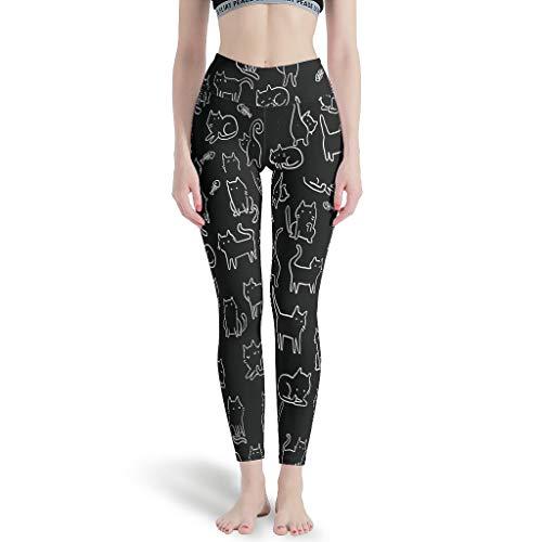YxueSond Leggings de yoga con impresión digital para mujer Blanco blanco XXXL