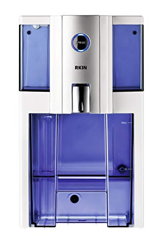 Product Image of the AlcaPure Reverse Osmosis Countertop Water Filter by RKIN with Patented High Capacity 4 Stage Technology: Purified Alkaline Water with Superior Taste. No Installation or Assembly Required. Silver White