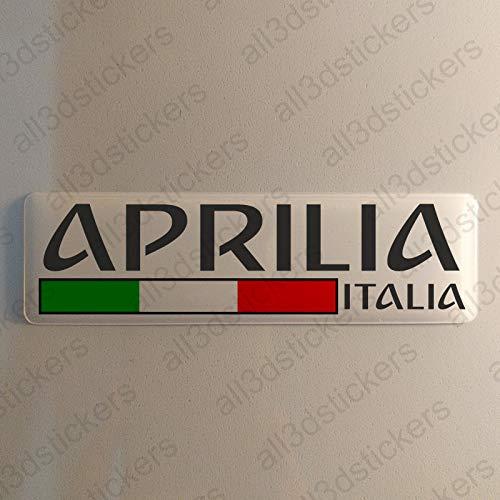 Aprilia Italien Aufkleber Aprilia 120x30mm Autoaufkleber Flagge 3D Fahne Italia