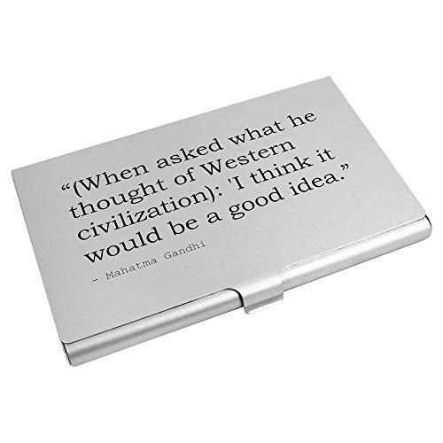 Azeeda Quote By Mahatma Gandhi Business Card Holder / Credit Card Wallet (CH00013517)