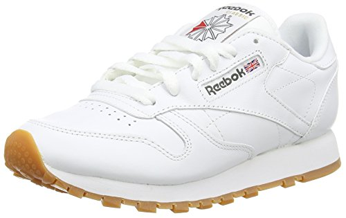 Reebok Classic Leather, Jungen Sneakers , Weiß  - White (White/Gum - 2) - 35 EU ( 3.5 UK )