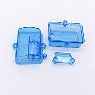 PerfectPlaza 54x37x35mm Sealing Waterproof Box Blue Receiver Water-Proof Box for RC Car Boat