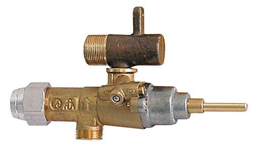 EGA-Alternativ GPEL20R Gashahn für Gasherd Palux 64502, 645005, 645, 646 mit Rohrausgang ø 10mm Thermoelementanschluss M8x1 0,35mm