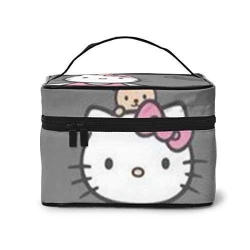 Bolsa de maquillaje, Hello Kitty gris, bolsa de cosméticos portátil de viaje,...