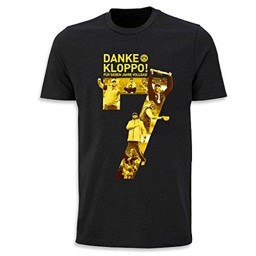 Borussia Dortmund Abschieds T-Shirt Jürgen Klopp alle Größen Danke Kloppo BVB 09 (152)