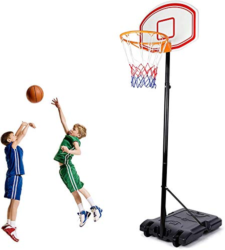 Amzdeal Portable Basketball Hoop, Basketball System...