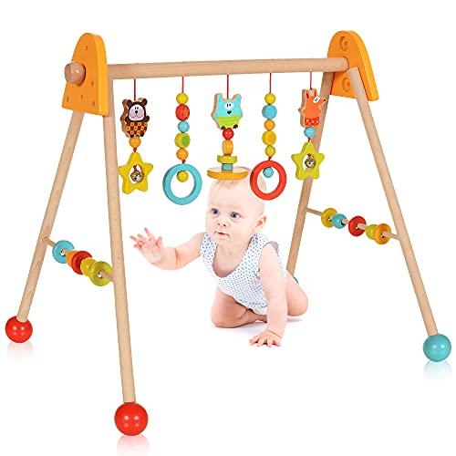 LCP Kids Baby Spielbogen Holz Trapez,...