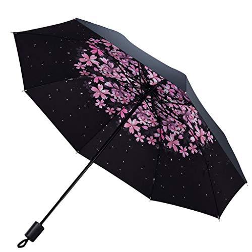 Schirme UV Schutz Schwarz Gefüttert Regenschirm Blume Lady Dome Regenschirm Lolita Outdoor Reise Mode Frauen Umbrella (Farbe : A)
