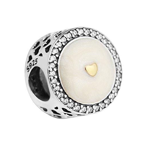 COOLTASTE 2017 Madre Día Regalo Edición Limitada Preciosa Corazón Bead 925 Plata DIY Fit para Origina Pandora Pulseras encanto joyería de moda