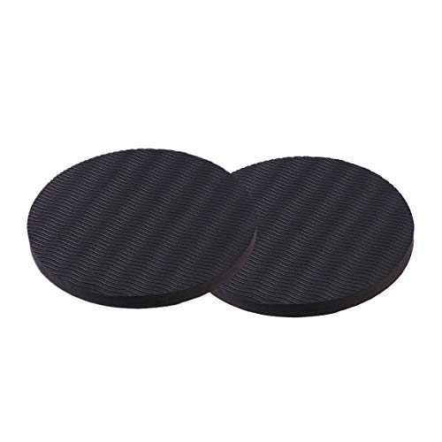 VORCOOL Yoga Knee Pad Cushion Thick Round Eco TPE Yoga Pad Comfort Yoga Pilates Workout Support Pad for Hands Wrists Knees Elbows Shoulders (Black)