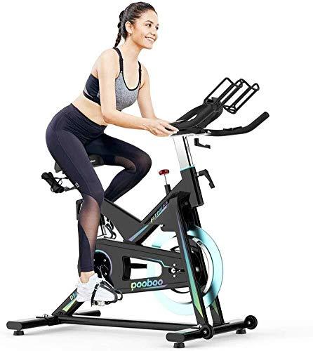 WEI-LUONG Plegable Cubierta de Bicicleta de Ejercicios Exercise Ciclismo Bicicleta estacionaria W/Pantalla LCD de Ritmo cardiaco Ajustable Pie Equipo de la Aptitud Plegable