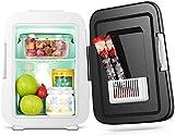 Mini-Kühlschrank 4 Liter / 6 Dosen - Tragbarer thermoelektrischer AC/DC-Kühler und...