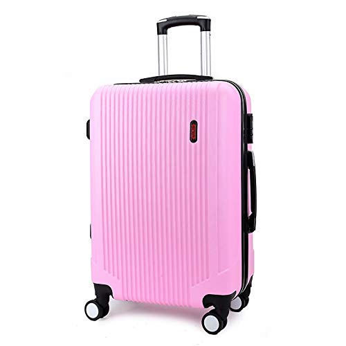 fosa1 Hand Luggage Trolley case PC Convenient Trolley Case,Super Storage Luggage Bag,Wheels Travel Rolling Boarding,20' 24' Inch (Color : Pink, Size : 20inch)