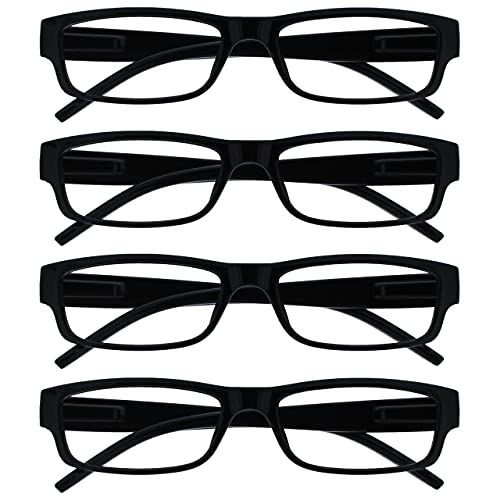 The Reading Glasses Company Black Lightweight Comfortable Readers Value 4...