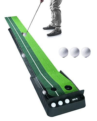 A Game Sports Indoor Golf Putting Green with Ball Return (10 Ft) | Golf Gifts for Men | Golf...