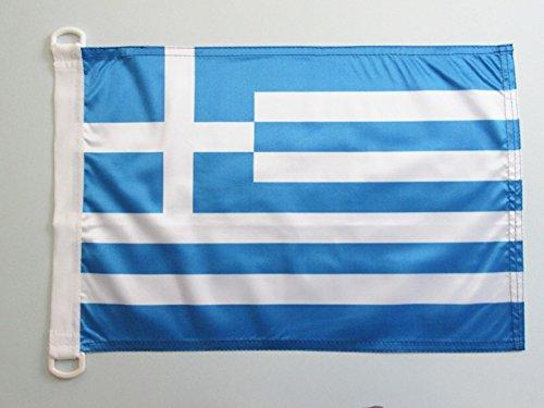 AZ FLAG Bandiera NAVALE Grecia 45x30cm - Bandiera MARITIMA Greca 30 x 45 cm Speciale nautismo