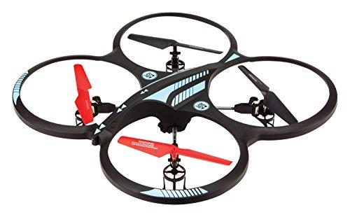 Arcade OrbitCAM XL Quadcopter Quadrocopter Drohne mit Kamera, Gyro-Stabilisatoren, Flipfunktion und Fernsteuerung für Große Reichweiten - Schwarz