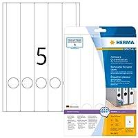 HERMA 10175リムーバブルファイルラベルA4 38 x 297 mm白可動/取り外し可能紙マット不透明125個。