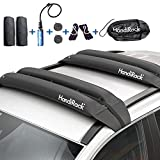 HandiRack Universal Inflatable Soft Roof Rack Bars (Pair); 10FT Tie-Downs and 11FT Bow and Stern Lines Included; Carries Kayaks, Canoes, Surfboards and SUPs