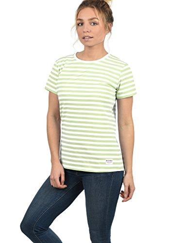 DESIRES Maya Damen T-Shirt Kurzarm Streifenshirt Shirt Mit Rundhalsausschnitt, Größe:S, Farbe:Seacrest (3051)