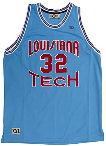 Head Master Camp US Wear Karl Malone #32 Louisiana Tech Bulldogs Authentic Throwback Jersey (2XL) Blue