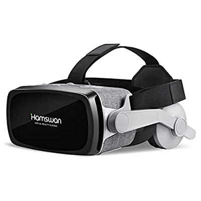 TOGETOP VR Headset for iPhone and Android Phone, 3D Virtual Reality Headset Movies and Games, Unique Design VR Glasses Goggles Compatible with 4.0-6.0 inch Phone, Adjustable Pupil and Object Distance
