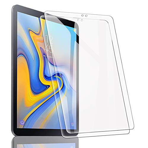 [2 Stück] Panzerglas Folie für Samsung Galaxy Tab A 10.5 2018 SM-T590/T595, Transparent Panzerglasfolie Displayschutz Panzerglasfolie 9H Härte Bubble Free Anti-Kratzer Anti-Öl Stoßfest - HD Klar