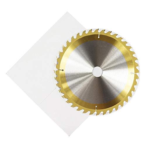Hoja de sierra circular 115160185210 250 mm Disco de corte para carpintería recubierto de titanio Hoja de sierra con punta de carburo TCT-210x1,8x25,4x24T