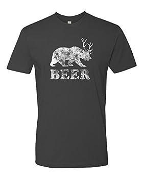 Panoware Men s Beer T-Shirt   Beer Bear Deer Heavy Metal XXX-Large