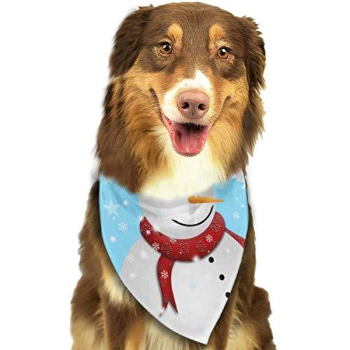 Sitear Kerstmis Ansichtkaart Met Sneeuwman Hond Kat Bandana Driehoek Bibs Sjaal Huisdier Kerndoek Set Voor Kleine Tot Grote Hond Katten Gepersonaliseerd
