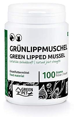 GreenPet Grünlippmuschelpulver Hund & Katze - grünlippmuschel Hund, Muschelkalk für Hunde, schmerzmittel für Hunde, grünlippmuschel Katze, grünlippmuschel Hund testsieger, grünlippmuschel Pulver