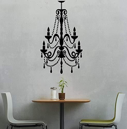 Calcomanía de pared de vinilo para lámpara de araña, para habitación de los niños, para el hogar, con cuentas, para decoración de pared