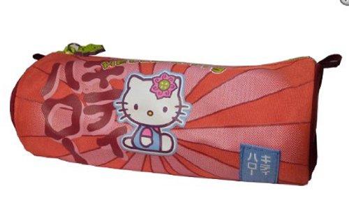 1 Trousse Fourre-tout rond Hello Kitty Kawai Rouge ou...
