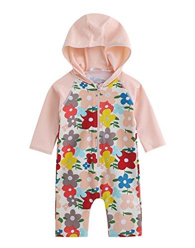 vaenait Baby 56–80 Maillot de bain pour bébé Infant MAEDCHEN Rashguard Swimwear One Piece Lauren Bébé Rose - Multicolore - L