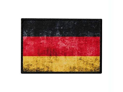 Monoquick Bügelbild Applikation Aufnäher Patch Flagge Fahne Deutschland Vintage 8,0 cm x 5,5 cm