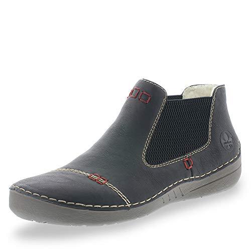 Rieker Damen 52590 Chelsea Boots, Schwarz (schwarz/schwarz 00), 41 EU