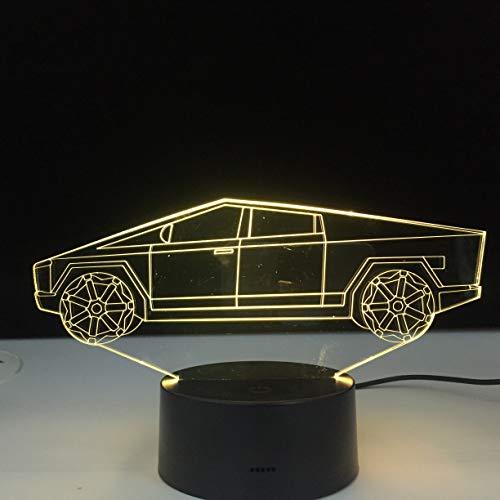 Elektroauto Form Einzigartiges Nachtlicht 3D LED Tischlampe Kinder Geburtstagsgeschenk Nachtzimmer Dekoration