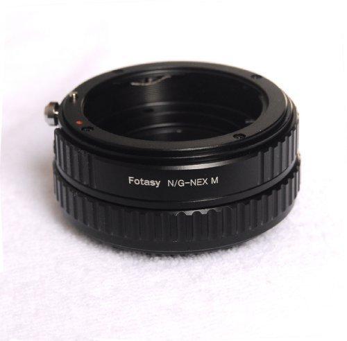 Fotasy NANGM Nikon G-type Lens to Sony NEX E-Mount Camera Lens Adapter / Macro Focusing Helicoid