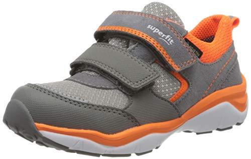 Superfit Jungen SPORT5 Sneaker, Grau (Hellgrau/Orange 25), 27 EU