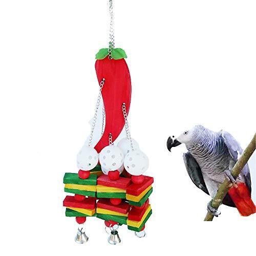 NEHARO Vogelkauspielzeug Grauer Papagei Alex Sun Pfeffer Biss String Papageispielzeug Medium und großes Parrot Bissspielzeug (3 stücke) Käfigzubehör (Color : Multi-Colored, Size : Free Size)