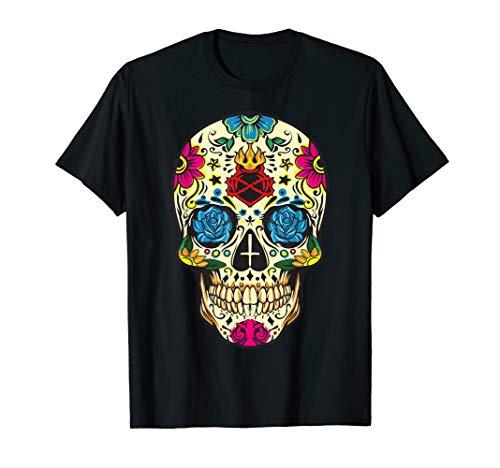 Day Of The Dead Flower Sugar Skull El Dia de Los Muertos T-Shirt