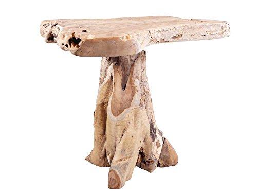 Vintage-Line Teakholz Tisch/Bartisch/Stehtisch aus Wurzelholz Teak Holz