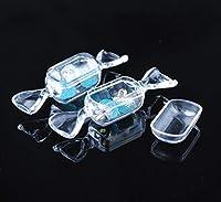 10個透明透明プラスチック甘い形のキャンディーボックスケース収納容器