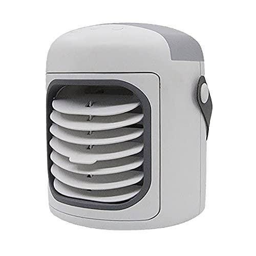 XHMJ Mini condizionatore d'Aria, Materiale plastico, Regolazione della velocità del Vento a Tre Livelli, a Basso Rumore Tipo-c Ricaricabile, Adatto per dormitorio, ECC, White