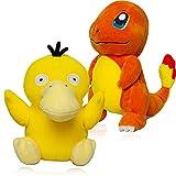 Charmander Plush Psyduck Plushies Toy, All Star Series Soft Stuffed Animals,Birthday Gift for Children ,2Pcs ,8'